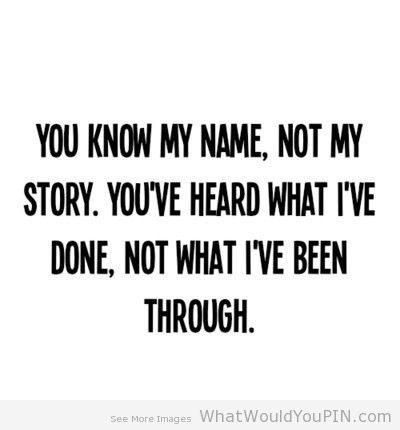 You don t know my story sermon