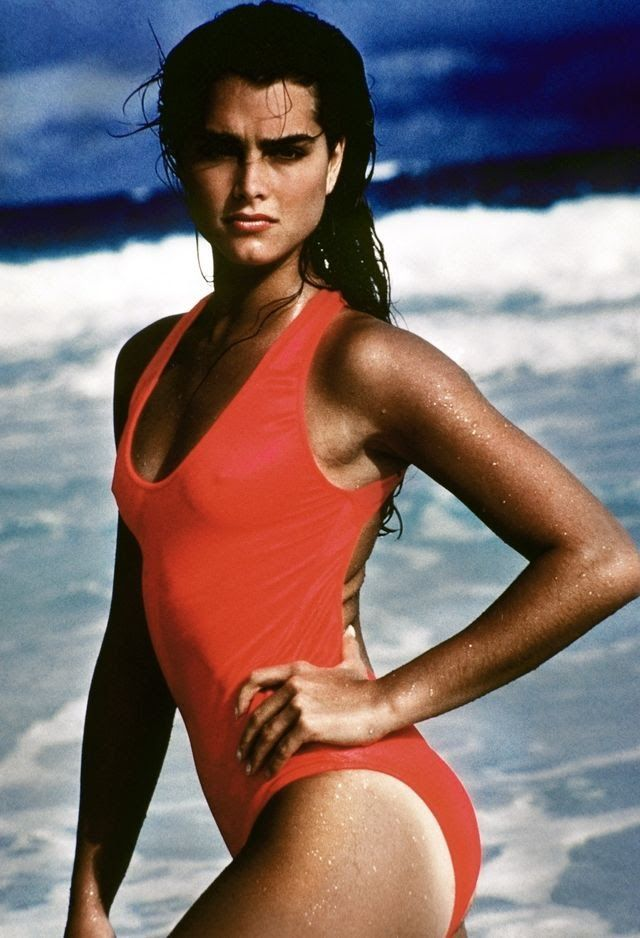 Young brooke shields in swimsuit
